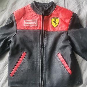 Kids Ferrari Racing Leather Jacket (4T?) PLS READ